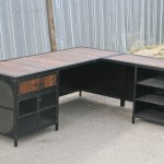 modern industrial L shaped desk