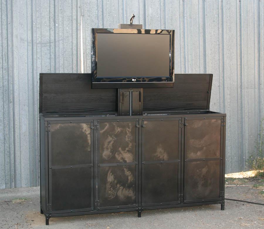 Industrial Motorized Tv Lift Cabinet Combine 9