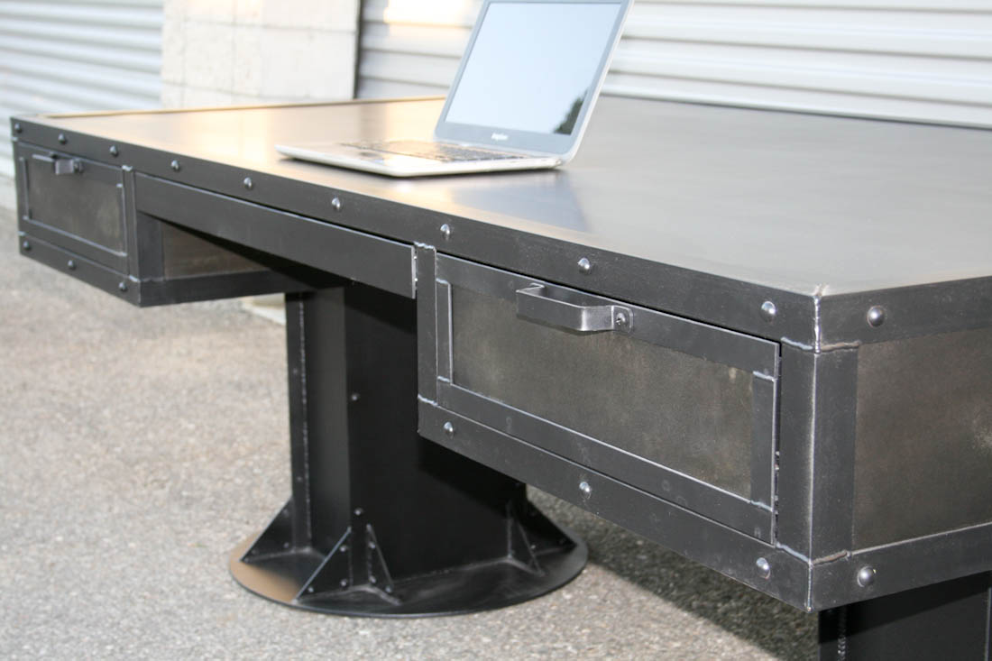 Combine 9 Industrial Furniture Industrial Desk With Drawers