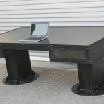 modern I-Beam desk with drawers