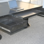 industrial I-Beam desk