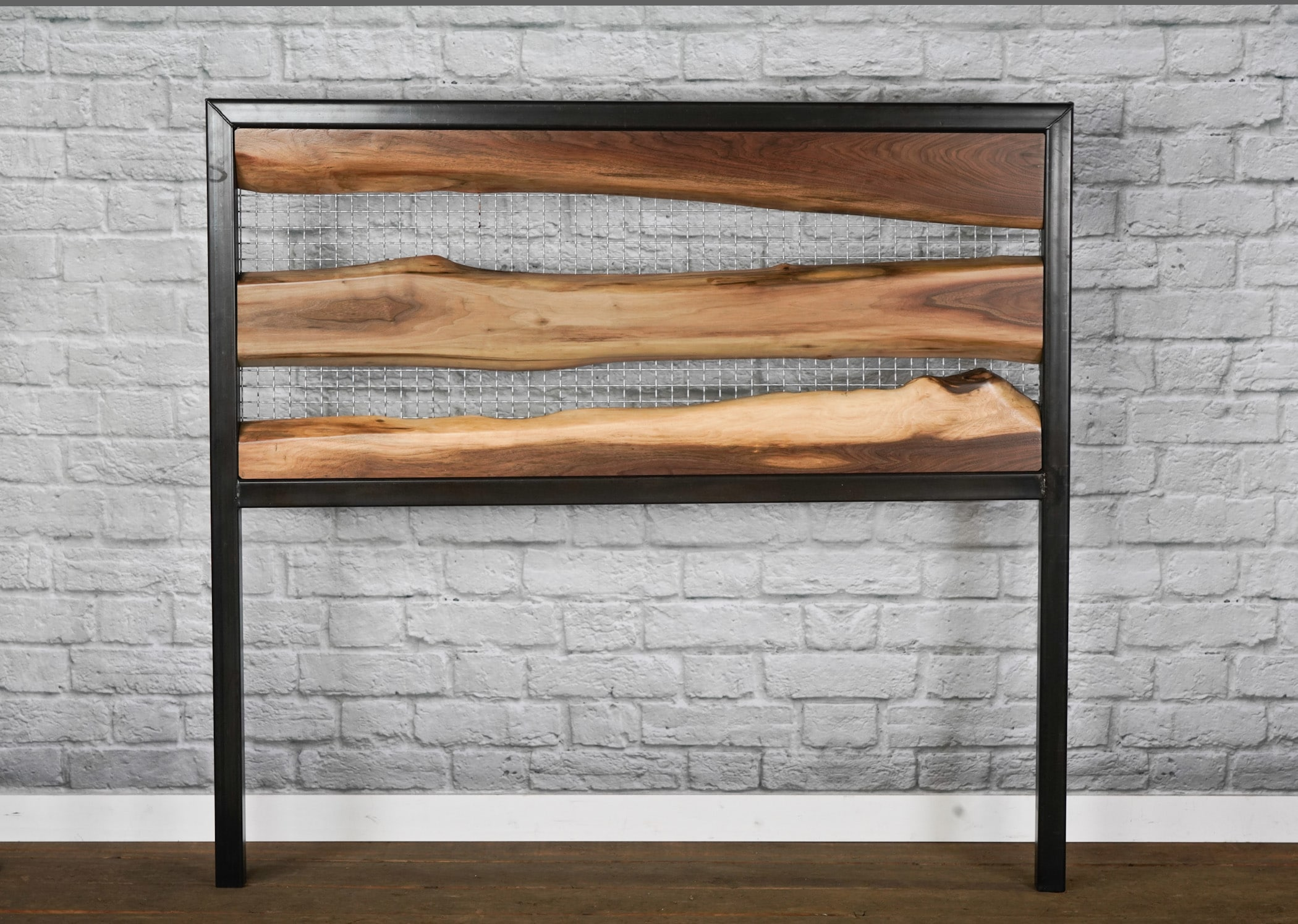modern live edge head board