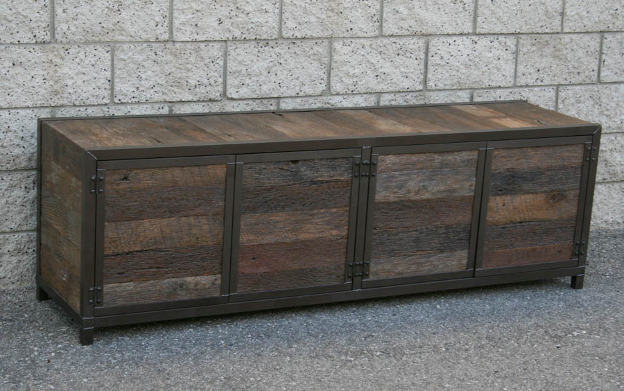reclaimed wood console table this is a handmade rustic media