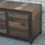 modern reclaimed wood media console