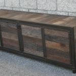 handmade rustic credenza