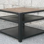 modern steel end table