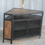 reclaimed wood corner unit tv stand