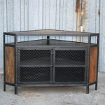 Modern Industrial Corner Unit with shelving