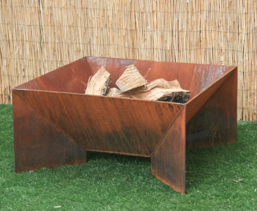 modern square fire pit