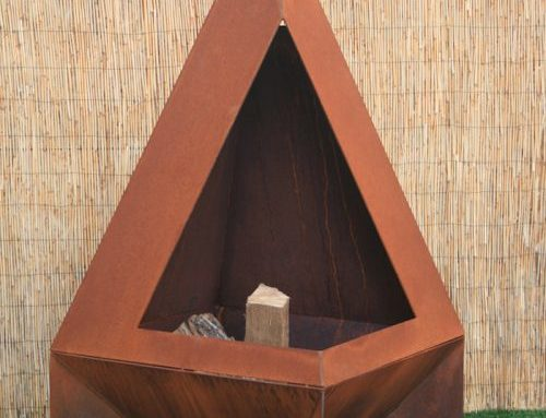 Modern Chiminea, Rustic Chiminea, Hand made Chiminea