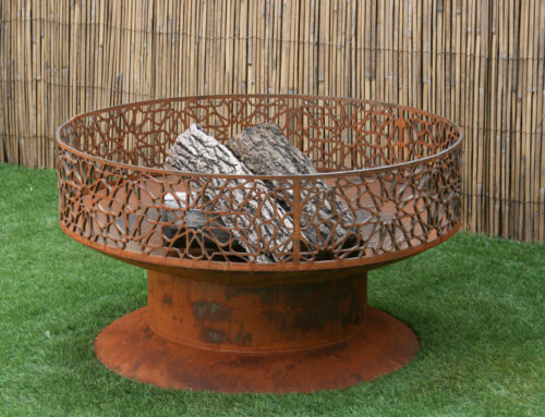 Modern Fire Pit, Round Fire Pit, Outdoor Fireplace