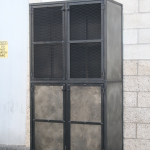 rustic steel pantry