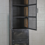 industrial cabinet with mesh doors