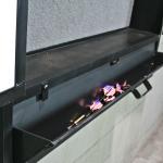 Steel dart board cabinet