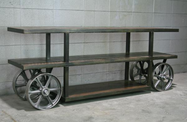 Combine 9 Industrial Furniture Industrial Cart Media