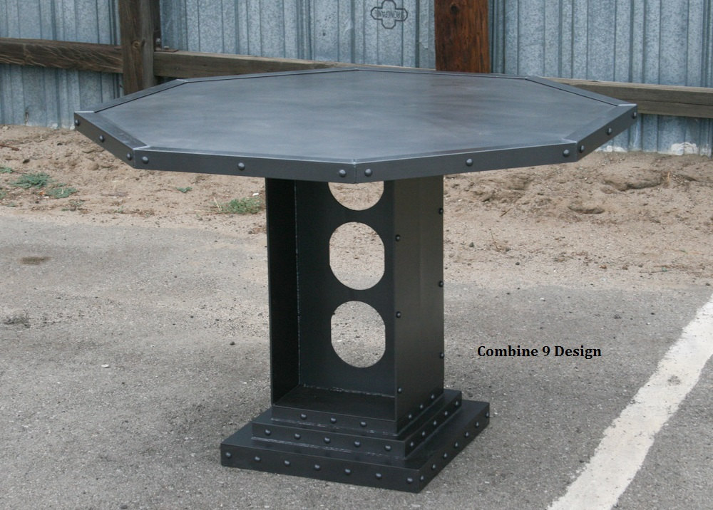 modern steel bistro table