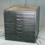 modern industrial flat file cabinet