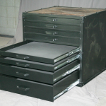 modern flat file cabinet