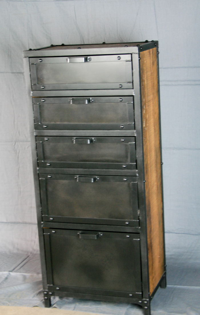 Modern Industrial Lingerie Chest Combine 9 Industrial
