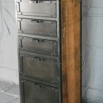 reclaimed wood and steel dresser