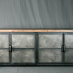 industrial credenza with platform style base