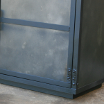 modern steel door entertainment center
