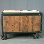 reclaimed wood file cart