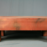 modern rusted coffee table