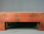 modern rusted coffee table