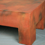 modern rusted table