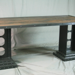Modern Industrial Desk with Girder Legs