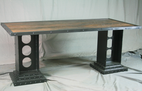 Modern Industrial Desk with Girder Legs