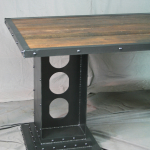 Modern Industrial Table with Girder Legs