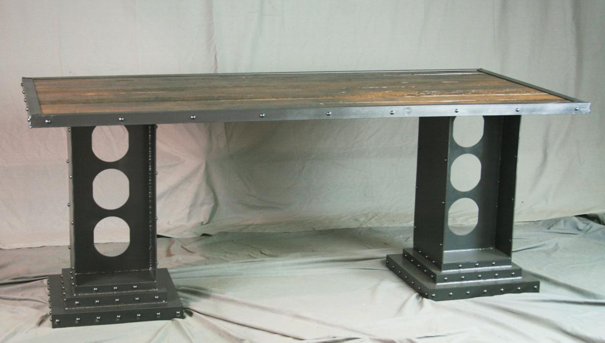 Delightful Modern Industrial Desk With Girder Legs Gallery