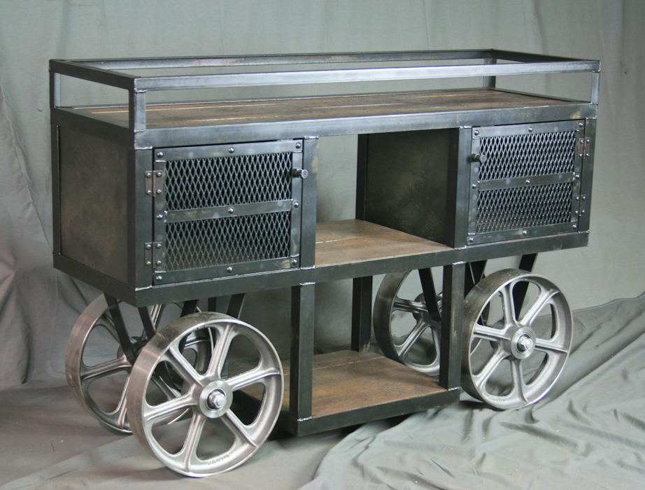 Kitchen Cart Reclaimed Wood