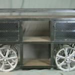 Vintage Industrial Trolley Bar Cart