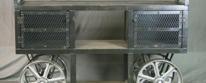 Industrial Trolley Bar Cart