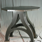 Industrial Base Octagonal Table