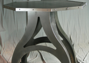 Industrial Base Octagon Table