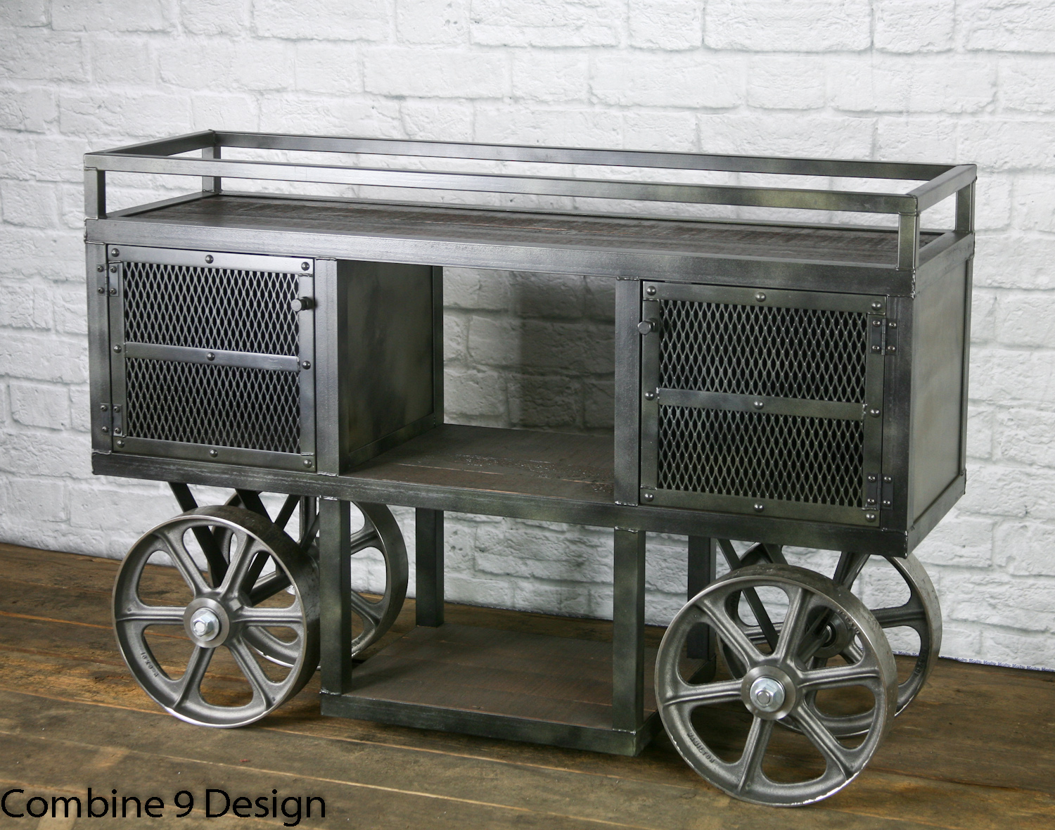 Industrial trolley bar cart