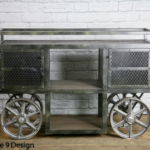 Push cart Vintage Bar Cart
