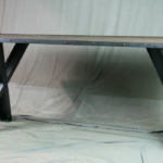 Industrial Slanted Leg Table