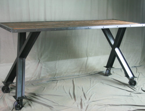 Industrial Cross Beam Table