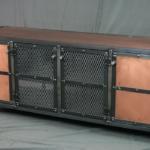 Industrial Copper Credenza