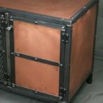Real Copper Media Console