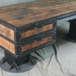 I Beam Desk with Drawers