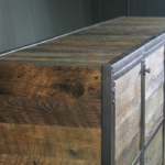 Industrial Style TV Lift Cabinet