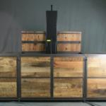 Vintage Industrial TV Lift Cabinet