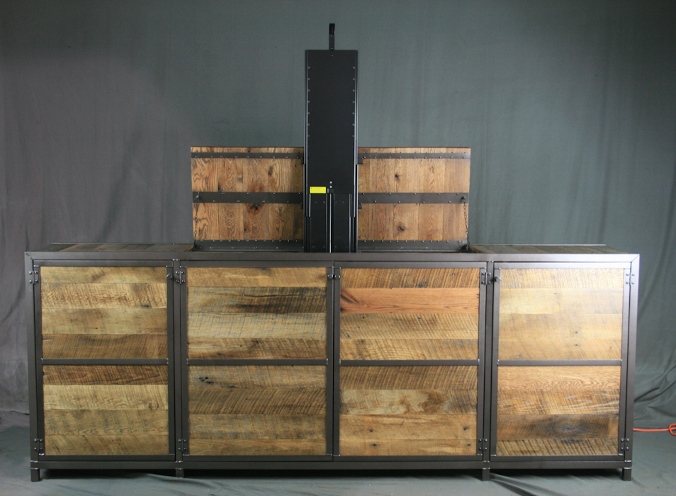 Check Out Our New Rustic Industrial TV Lift Cabinet