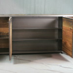 Vintage Industrial TV Lift Cabinet with Storage